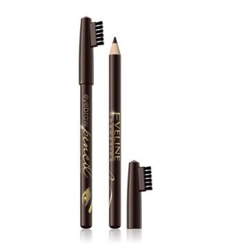 Эвелин контурный карандаш для бровей Eveline medium brown