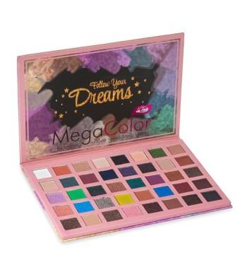 Ла Роса перламутровые и матовые тени для век Mega Color La Rosa  40 цветов