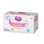 Мерриес салфетки детские влажные, запасной блок Merries, 108 шт