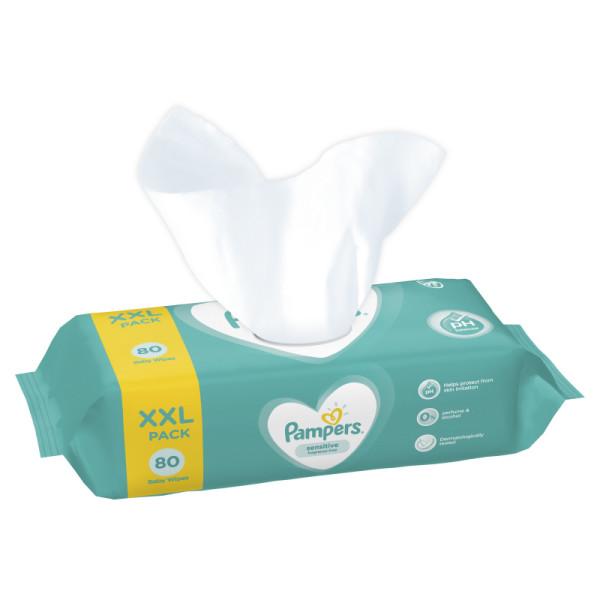Салфетки Памперс детские влажные Pampers Sensitive 80 шт