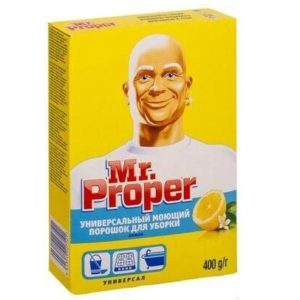 Пропер порошок моющий для полов и стен, универсал Лимон, Mr Proper 400 гр