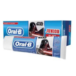 Детская паста зубная Oral B Junior Нежная мята Орал би 75 мл