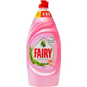 Фейри Нежные ручки средство для посуды Розовый жасмин и алоэ вера Fairy 900 мл.