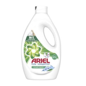 Гель Ариель для стирки Горный родник для белого и цветного, Ariel 1.04л