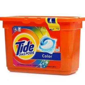 Тайд капсулы жидкие растворимые СМС Color Tide 15 шт