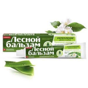 Паста отвар трав зубная Лесной Бальзам Тройной эффект с алоэ и белым чаем 75 мл