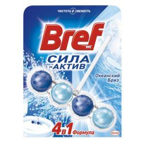 Подвеска для унитаза Бреф 4 в 1 Сила актив, 50 гр (шарики) - океанский бриз