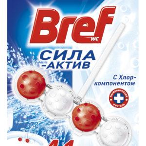 Бреф с хлором подвеска для унитазасила актив 4 в 1 Сила актив, 50 гр (шарики)
