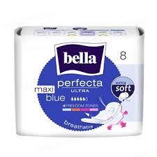 Белла Perfecta Ultra Maxi Blue прокладки гигиенические Bella, 8 штук