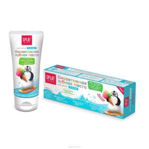 Сплат детская зубная паста фруктовое мороженное SPLAT KIDS от 2 до 6 лет, 50 мл