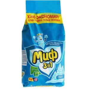 Миф Автомат стиральный порошок Морозная свежесть 9 кг