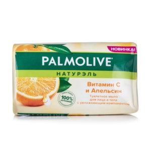 Палмолив мыло Апельсин и Витамин С Натурэль и для лица и тела, Palmolive 150 г
