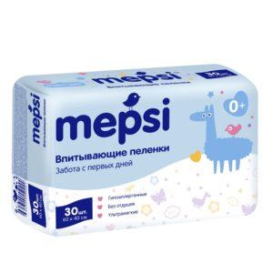 Пеленка одноразовая Мепси 60 х 40 см (Mepsi) 30 шт