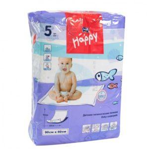 Детские Пеленки Белла (Baby Happy Bella) 60х90 см, 5 шт