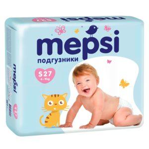 Mepsi детские подгузники размер S (4-9кг) Мепси, 27 шт