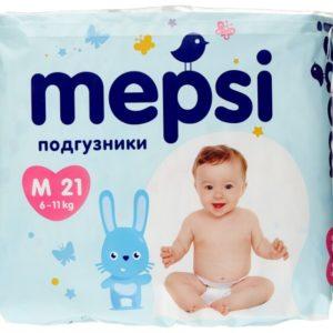 Детские подгузники Mepsi размер M (6-11 кг) (Мепси) 21 шт