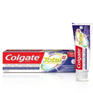 Колгейт профессиональное отбеливание COLGATE Зубная паста TOTAL 12 75 мл
