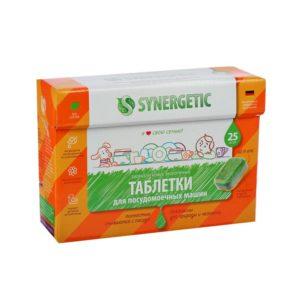 Синергетик таблетки бесфосфатные для посудомоечных машин, Synergetic, 25 шт