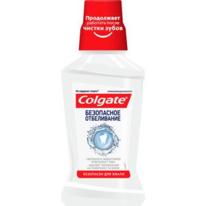 Колгейт безопасное отбеливание ополаскиватель полости рта PLAX, Colgate 250 мл