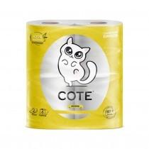 Бумага туалетная Cote 4 шт 2 слоя (Коте Yellow Smile)