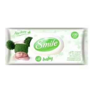 Смаил Беби влажные салфетки 100 шт (Smile baby)