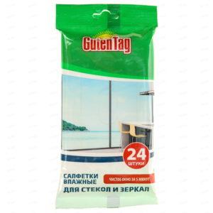 Гутен Таг салфетка влажная стекол и зеркал Guten Tag для 24 шт