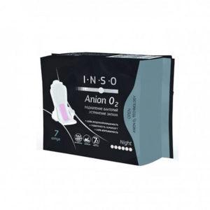 Inso гигиенические прокладки Anion O2 Night с анионовым слоем, Инсо 7 шт