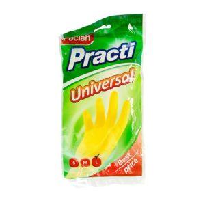 Паклан универсальные перчатки резиновые (Paclan Practi Universal) Размер L