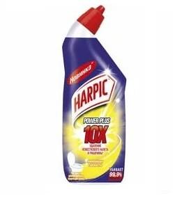 Харпик чистящее средство для туалета Power Plus Harpic Лимонная свежесть гель450мл