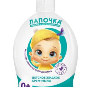 Лапочка Детское жидкое крем-мыло для сухой и чувствительной кожи 300 мл