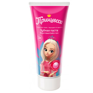 Принцесса Детская зубная паста Фруктовый бабл-гам 65г