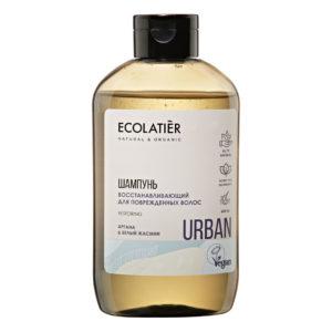 Ecolatier Шампунь Восстанавливающий для поврежденных волос Аргана и белый жасмин 600 мл