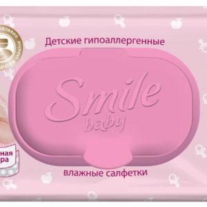 Smile baby Детские влажные салфетки Фитолиния (Смайл Бейби) 72 шт