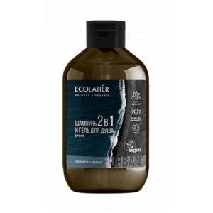Ecolatier Мужской гель для душа и шампунь 2 в 1 Грейпфрут и Вербена 600 мл